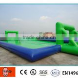0.9mm PVC Outdoor Durable Inflatable Water Soccer Field for kids inflatable football game