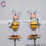 standing flower metal dragonfly garden decoration stake