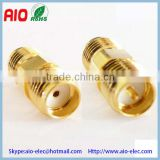 gold plated Reverse Polarity RP SMA Female to SMA female Adapter adaptor converter RF connector