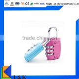 colorful 3-digit resettable travel lock/wholesale promotional lock
