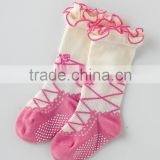Japanese wholesale clothing manufacturers products cute baby socks like shoeswtih creepers ballet kids child clothes infant wear