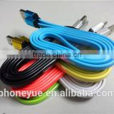 1m colorful aluminium alloy micro usb flat cable for samsung