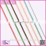 New Wholesale bulk AAA cheap multicolored bling bling glass crystal rhinestone trim, hign grade DIY cup chain rhinestone