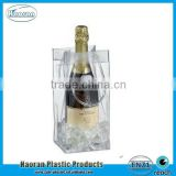New design clear PVC Plastic portable wine cooler bag factory supply                                                                                         Most Popular