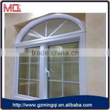 Good quality arch upvc casement window with grids Factory