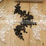 Charming Crochet Flower Embroidery Lace Neckline Patches,Lace Collar Applique For Wedding Dress                                                                         Quality Choice