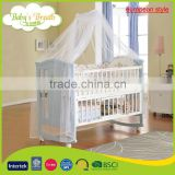 WBC-11B european style wooden carved teak wood baby swing cradle bed designs                                                                         Quality Choice