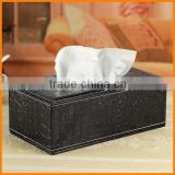 Continental black leather tissue box tissue pumping creative paper tray pumping pumping cassette household shipping wholesale pr