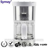 Digital Coffee Maker with SS Decoration, 1.25L, 10 Cups, Glass Carafe, Kitchen Accessory, Filter