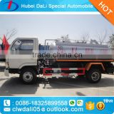 4 CBM Dongfeng 4*2 MINI Fecal suction tanker truck for sale