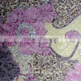 90polyester 10cotton EMBROIDERED TC COTTON FABRIC WITH COLORFUL FLORAL PRINTED FAHSION FABRIC