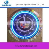 2015 New Design Neon Lighted Wall Clock