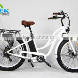 fat tire electric bike 26inch beach cruiser ebike for women
