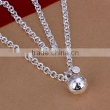 wholesale 2014 fashion women ball pendant 925 sterling silver necklace