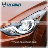 CE CCC Rohs certifications China car accessories performance headlight elantra 2014 automotive headlight