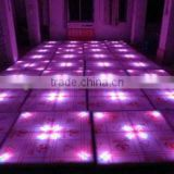 China Cheap Light up Dance Floor Video 3D Effect DMX 1*1m LED Tile Stage Lighting For Sale Christmas Decorative DJ Disco Party