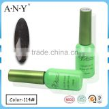 ANY Nail Beauty Salon Using UV Gel Nail Curing Soak Off Black Golden Chrome Nail Polish Gel 12ML