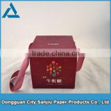 custom packaging color box candy box with ribbon handle CO0029