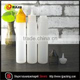 RUIJIA E liquid oil 10ml 15ml 30ml 50ml 60ml ldpe unicorn pen plastic dropper bottles with childproof and tamper evident cap                                                                                                         Supplier's Choice