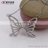 Wedding Jewelry Sets Rhodium Plated Butterfly Earring Pendant Sets For Wedding Jewelry