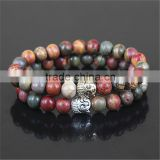 KJL-0089 Wholesale Fashion Natural Stone Colorful Beads Bracelet,Yoga Mala Buddha Bracelet,Men Beaded Charms Bracelet