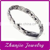 China Manufactures Supply Health Care Jewelry Tungsten 316L Stainless Steel Bio Magnetic Bracelets Design For Mens