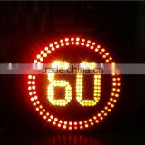 flashing solar led traffic safety speed limit traffic sign