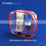 Daily Use Chemical Products Packaging Pouch Clear PVC Travel Bag With Zip                                                                         Quality Choice