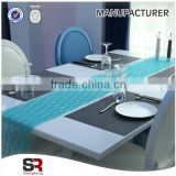 Hot Sale Light Blue Banquet Wedding Satin Table Runner For Party event