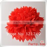 2016 Chinese new year decoration tissue paper pompom beach flag banner