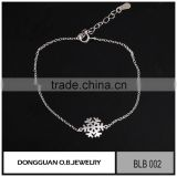 925 sterling silver chain bracelet jewelry for baby/safety material jewelry
