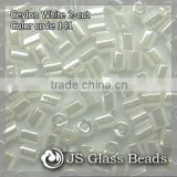 High Quality Fashion JS Glass Seed Beads - 141# 11/0 Ceylon White Opalescent 2-CUT Beads For Garment & Jewelry
