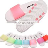 wholesale summer ladies & men fashion casual beach eva injection jelly slippers PVC upper sandals