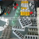 keypads for medical equipment conductive carbon pills spray laser back-lighted good customized silicone keypads
