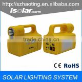 IS-1366S rechargeable led emergency light and solar lamp with camping light bulb in Africa