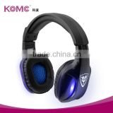 Gaming Headset Comfortable 3.5mm+USB Stereo Over-ear Headphone Headband with LED Lighting for PC Computer Game