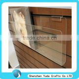 China manufacturer wholesae slatwall acrylic clear acrylic slatwall CD holder transparent plexiglass slatwall cd dvd holder