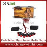 Hot sex 7 inch lcd display open frame 16:9 in store video advertising push button LCD digital signage player