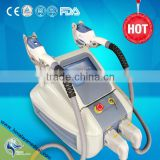 2 handles shr hair removal machine/system big promotion