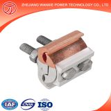 Friction welding Shaped copper and Aluminium wire parallel groove connector