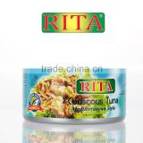 CANNED VALUE ADDED TUNA FISH MEDITERRANEAN STYLE FROM THAILAND BLUE RIVA / RITA BRAND