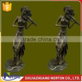 Life size bronze beautiful gril playing violin sculpture NTBH-050LI