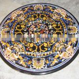 Round Marble Inlay Dining Table Top