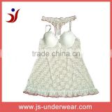 js-343 ladies Sexy Bra Camisole with panty with lace (New Arrival)accept OEM