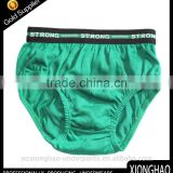Fashion style green thong trendy boy underwear with strong elastic band