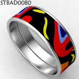 Colorful Women Stainless Steel Bangles Bracelet With Enamel
