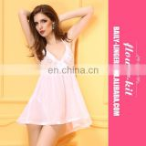 Europe america wholesale hot sexy lingerie women lace white nighty transparent sexy babydoll