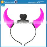 Halloween Party Plastic Devil Horn Headband with Light