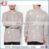 Fashion Sherpa Fleece Pullover Crew Neck Custom Christmas Sweaters Man Cashmere Men's Shrug Sweater