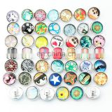 18mm Snap Buttons Jewelrys Rainbow Glass Snaps Fit Snaps Bracelets Ginger Snaps Jewelry or necklace ZJ1382